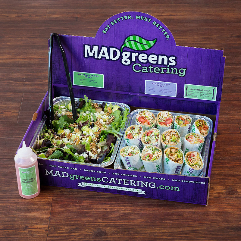 1 MAD Salad & 12 half MAD Wraps