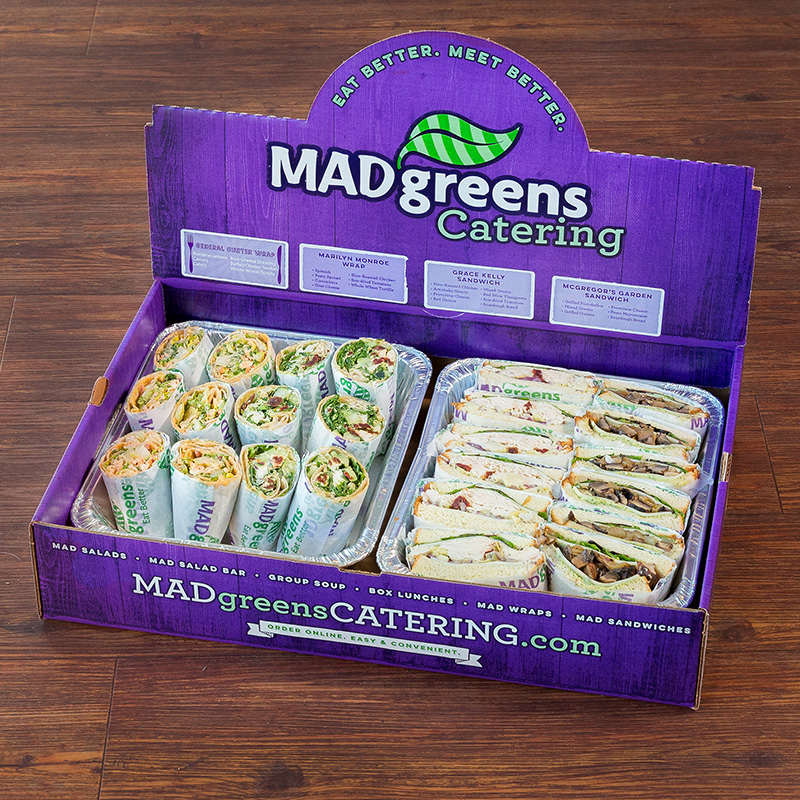 12 half MAD Sandwiches & 12 half MAD Wraps